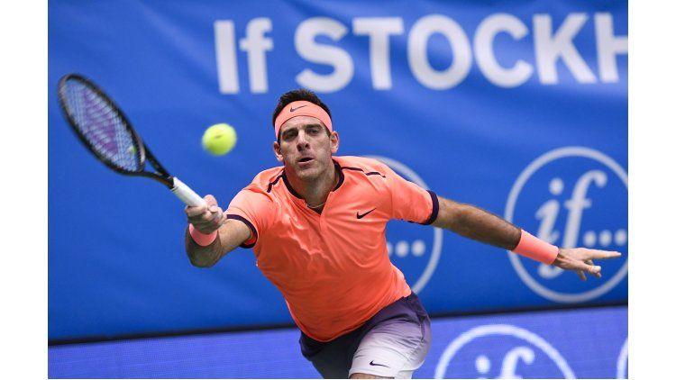 Juan Martín Del Potro venció a Nicolás Almagro y enfrentará a Ivo Karlovic en la próxima ronda del ATP de Estocolmo
