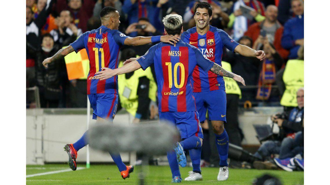 El festejo del Barcelona ante el Manchester City por la Champions League