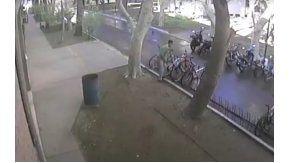 Robo bicicleta. Captura de pantalla video de Facebook