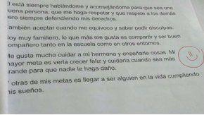 La emotiva respuesta de un alumno que emocionó a su maestra.
