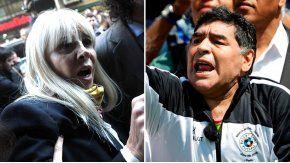 Claudia Villafañe y Diego Maradona.