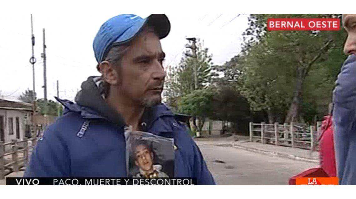 Padre del joven asesinado en Quilmes. Captura de video de C5N.