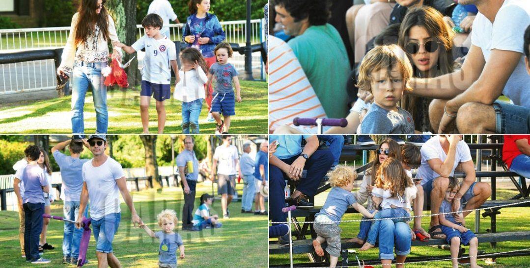 El día de polo de la China y Vicuña con sus hijos.