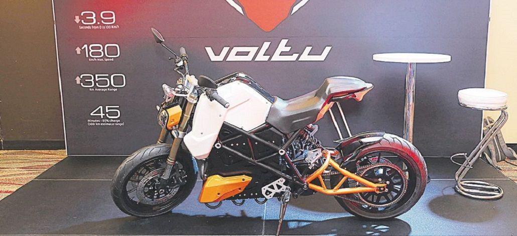 La moto de Voltu tiene altas prestaciones con 350 km de autonomía.