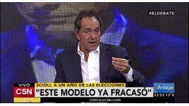 Scioli: El Gobierno tiene que tener reacción. Este modelo ya fracasó