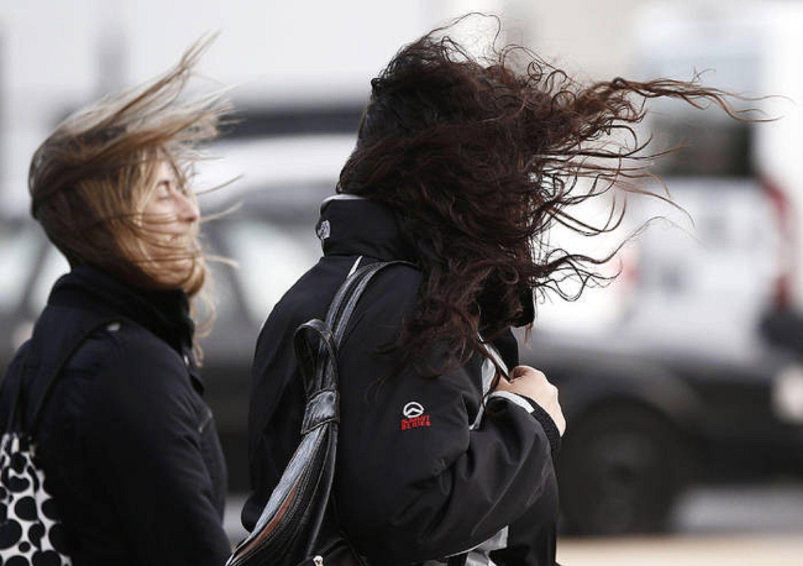 Vientos fuertes. Imagen de archivo