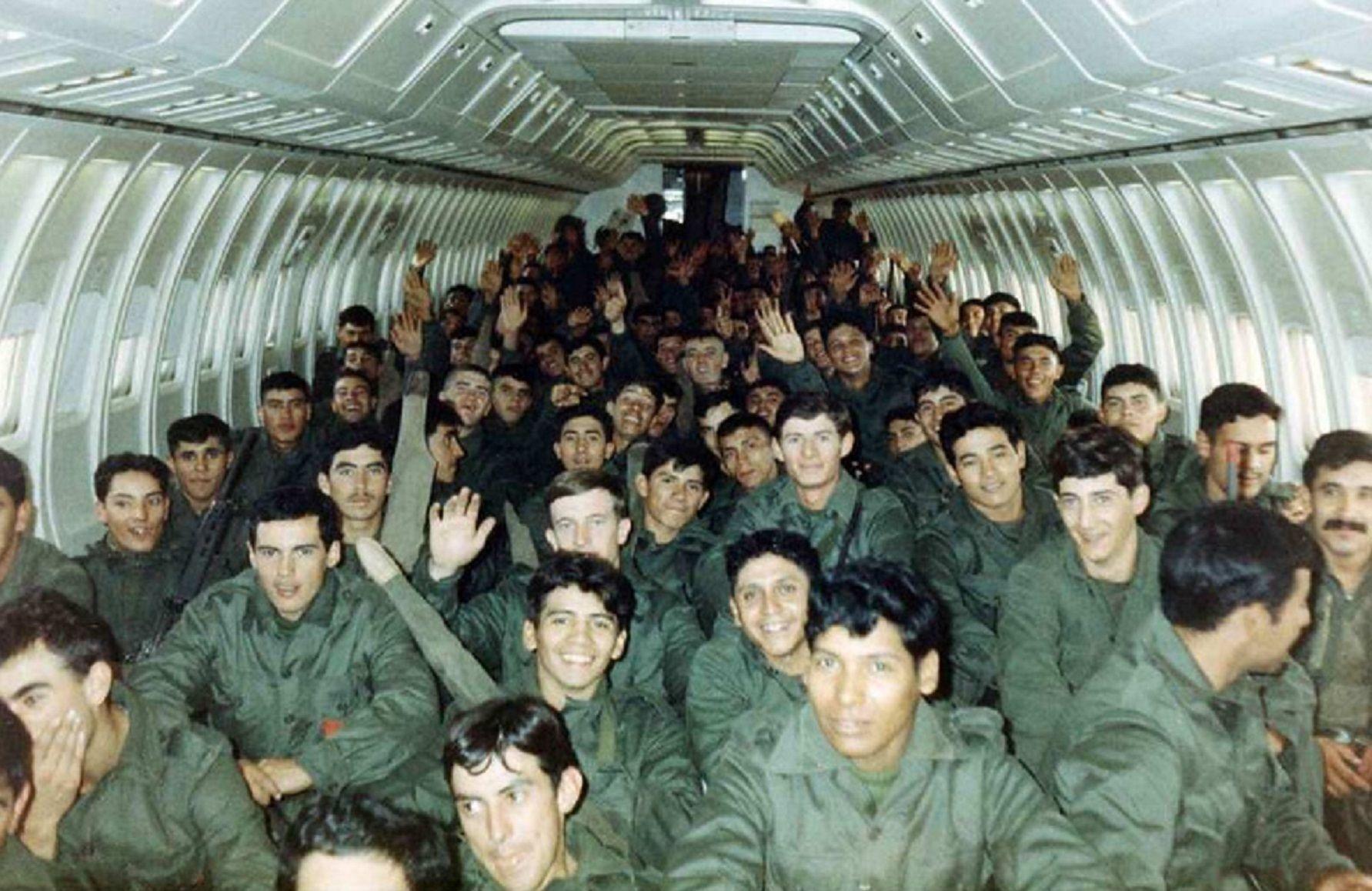 Soldados de las Malvinas 1982. Imagen de archivo