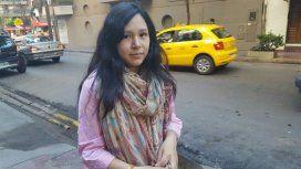 Anahí, la joven que dijo que se había encontrado a una beba en la calle.