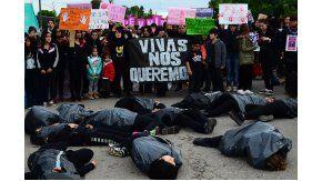 La marcha NiUnaMenos en Río Negro.