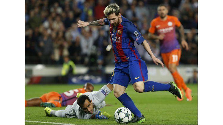 Lionel Messi anotó tres goles en el encuentro disputado hace dos semanas