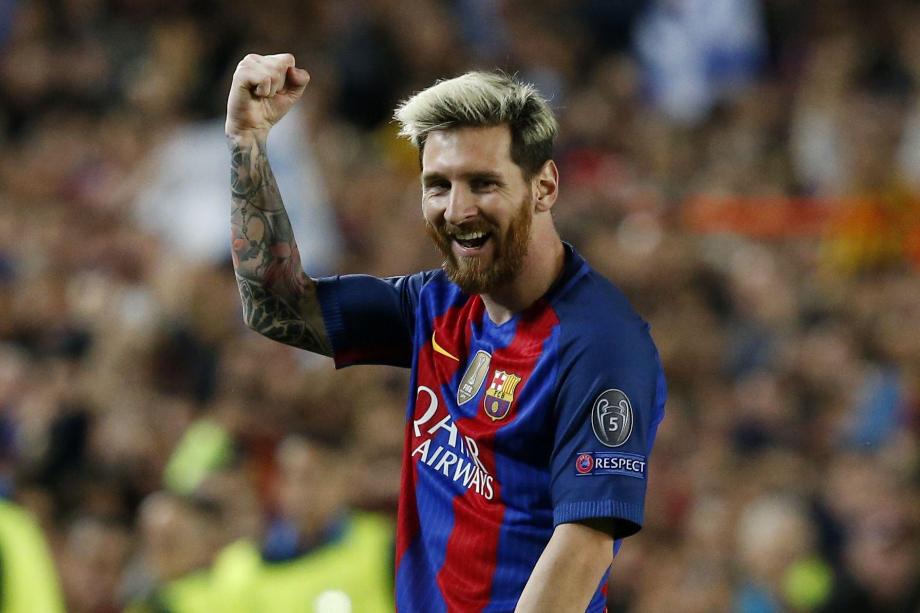 El festejo de Lionel Messi ante el Manchester City por Champions League