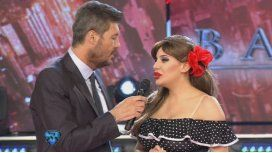 Charlotte Caniggia y Marcelo Tinelli en ShowMatch