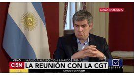 El jefe de Gabinete Marcos Peña en C5N