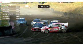 Kevin Eriksson realizó la maniobra perfecta en el Rallycross de Alemania