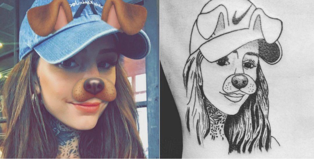 Un fanático se tatuó la cara de Cande Tinelli.