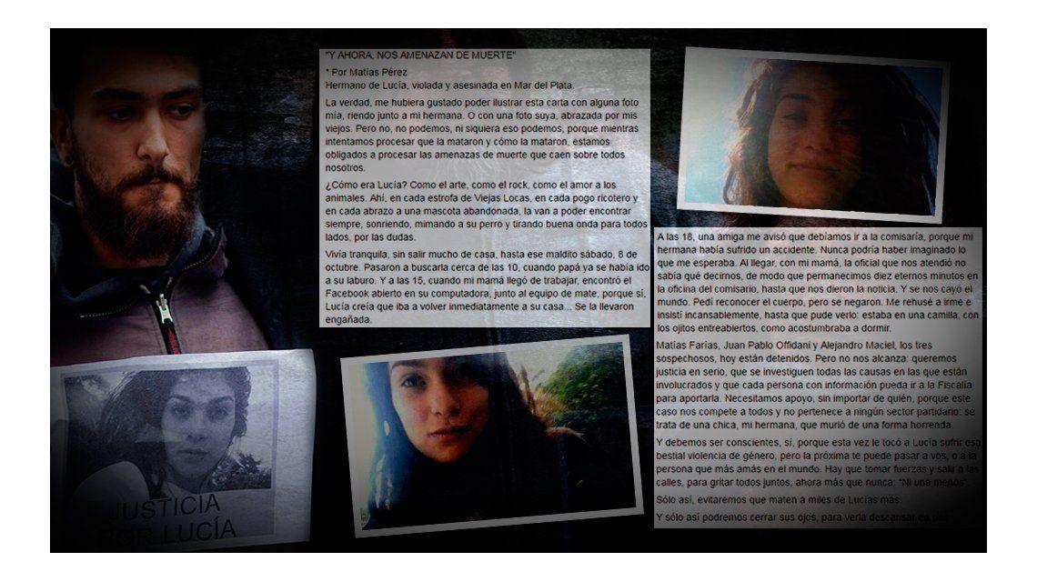 El hermano de Lucía pide justicia en serio y que se investigue a fondo a los sospechosos
