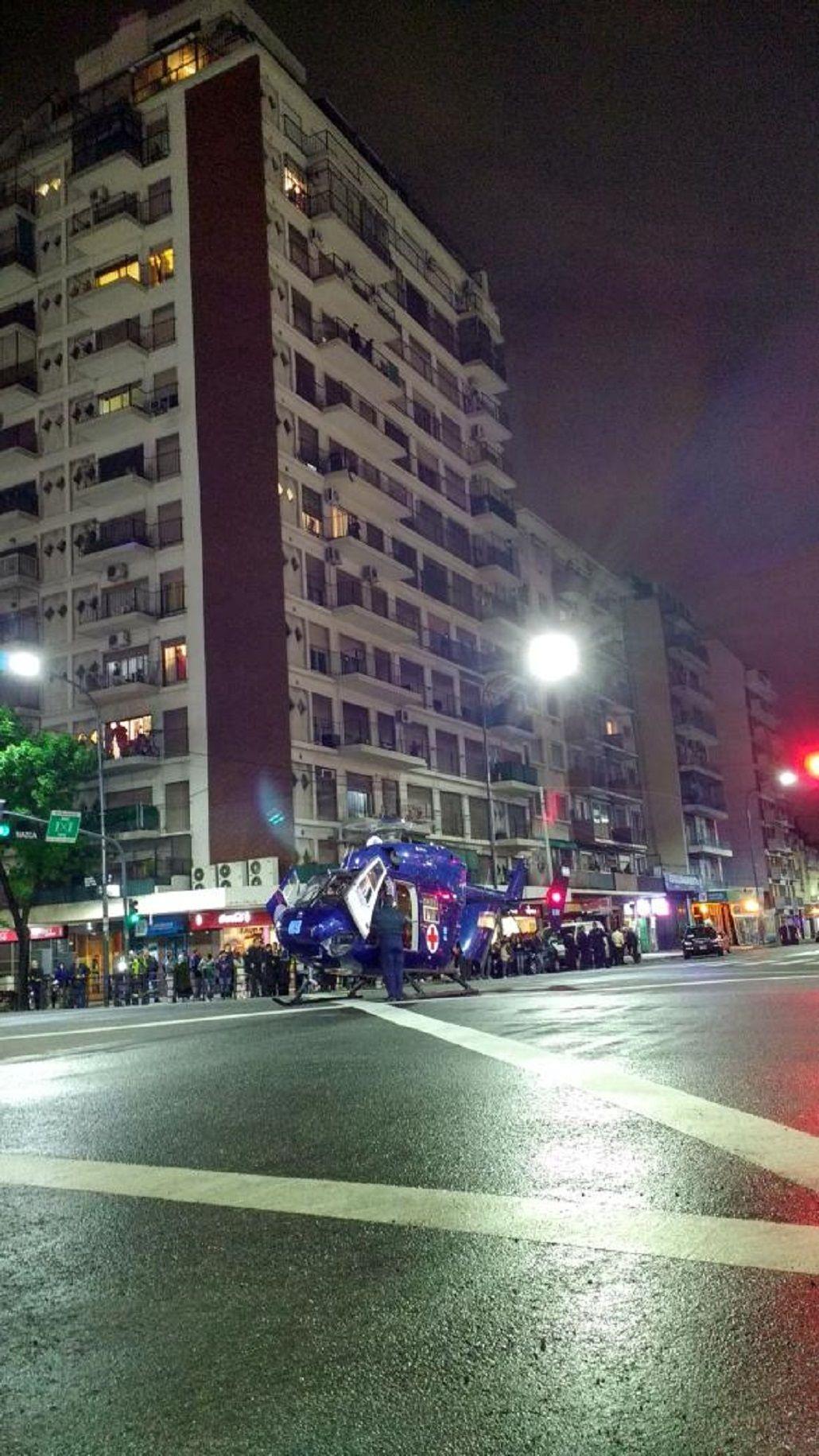 Policía de la Federal asesinado en Flores fue socorrido por helicóptero y llevado de urgencia al hospital Álvarez
