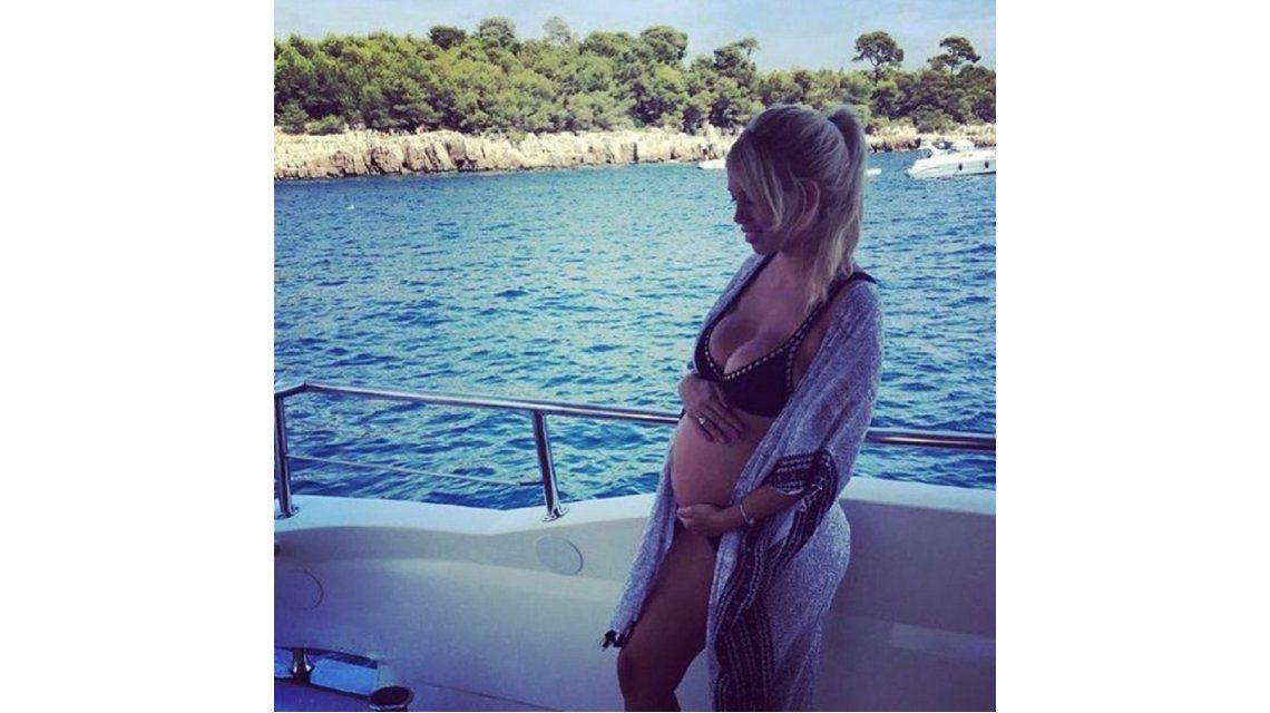 Inédita foto de Wanda embarazada.