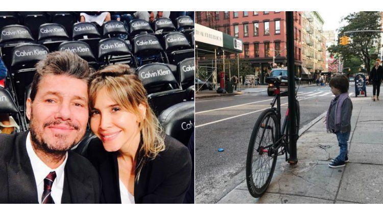Tinelli y Valdes en Nueva York.