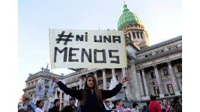 Movilización de mujeres#NiUnaMenos. Imagen de archivo