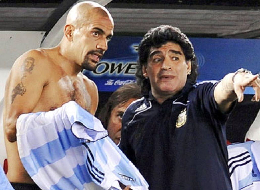 Diego le devolvió la confianza a Verón en la Selección. Hoy todo parece lejano...