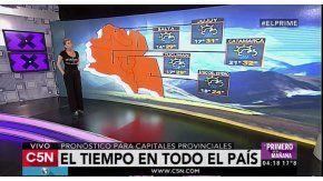 El pronóstico del tiempo para todo el país en C5N
