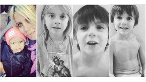 Wanda y sus hijos en Instagram