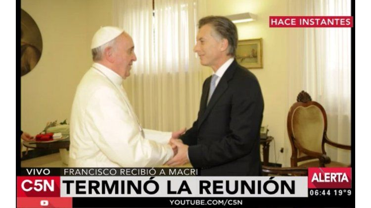 Mauricio Macri reunido con el Papa Francisco en el Vaticano
