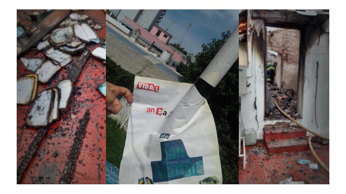 Incendio en el tribunal de San Martín: ésta es la carta con la que amenazaron a María Eugenia Vidal