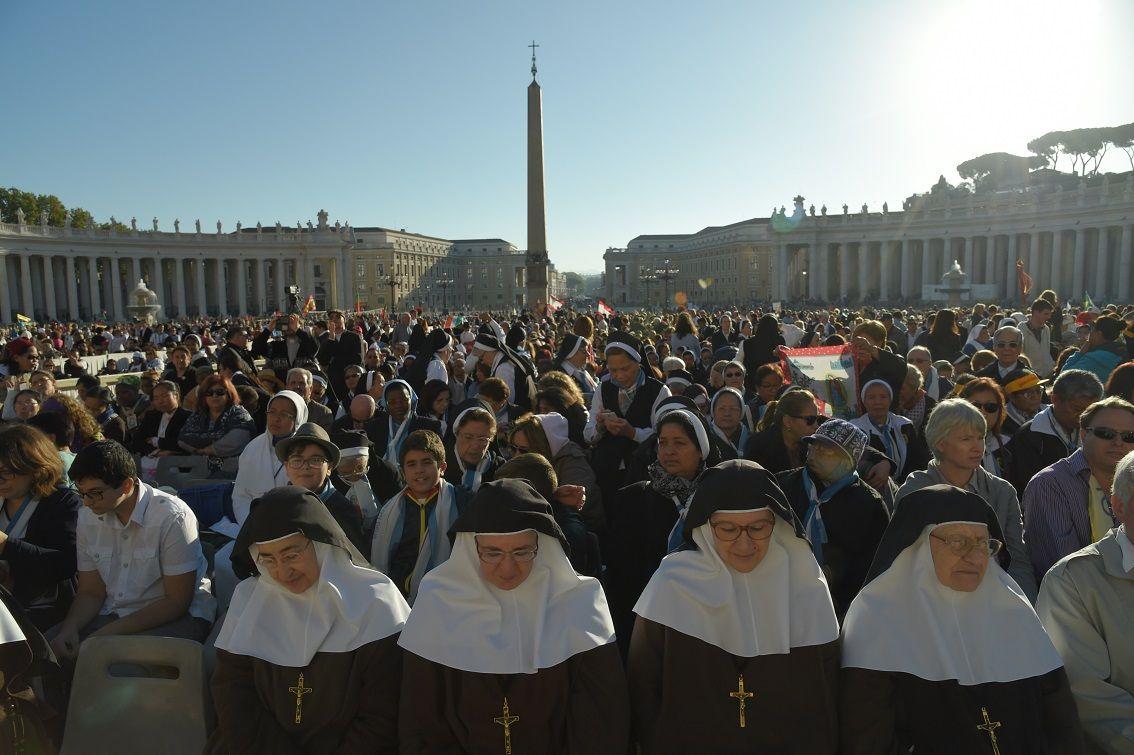 Plaza San Pedro durante la beatificación del cura Brochero