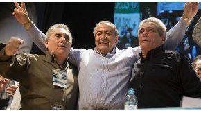 Juan Carlos Schmid, Héctor Daer y Carlos Acuña, el triunvirato que conduce la CGT.