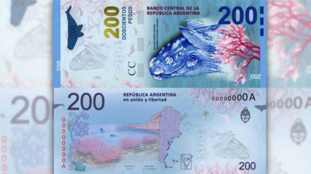 El billete de 200 pesos será presentado este miércoles en Puerto Madryn.