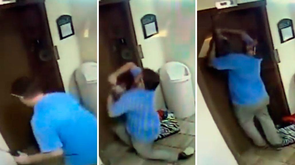 Portero héroe: evitó que un perro fuera rebanado por la puerta del ascensor