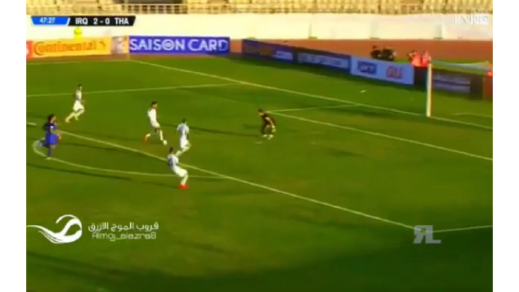 El insólito ataque de Irak que no pudo ser gol ante Tailanda por las Eliminatorias asiáticas