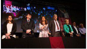 Cristina Kirchner fue reconocida en la Universidad de Quilmes.