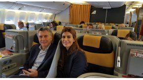 El Presidente Macri junto a Juliana Awada