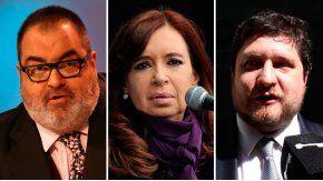 Jorge Lanatta, Cristina Kirchner y Nicolás Wiñazki