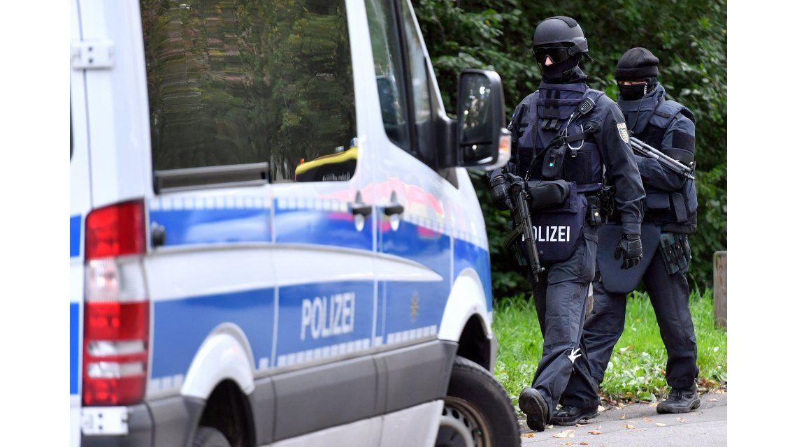 La policía alemana detuvo al presunto terrorista.