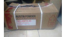 La caja con explosivos que cayó de un camión.
