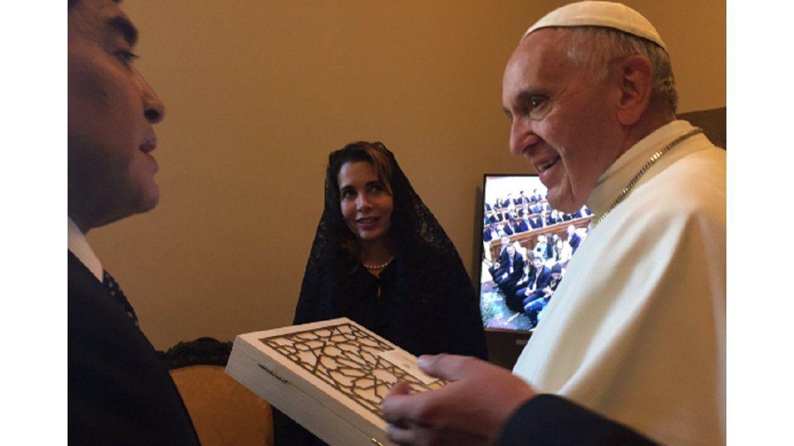 Maradona junto al papa Francisco