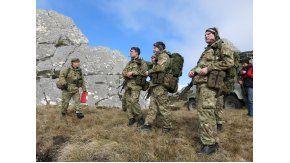 Soldados británicos en las Islas Malvinas