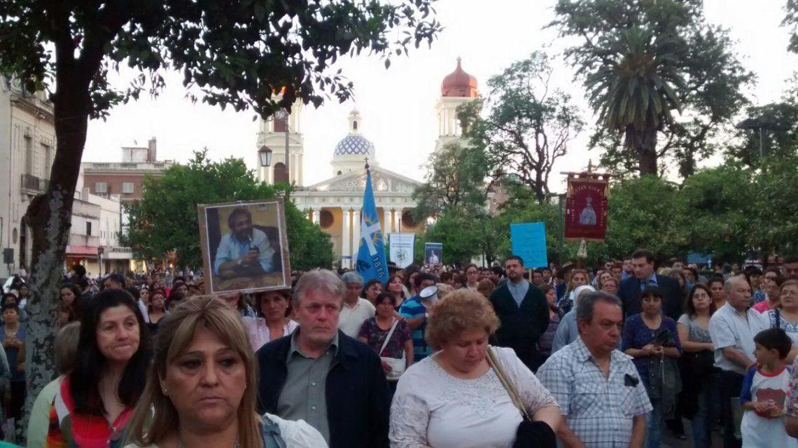 Vera en la marcha en Tucumán