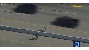 Escapaba de la policía, pero lo capturaron gracias a un teaser