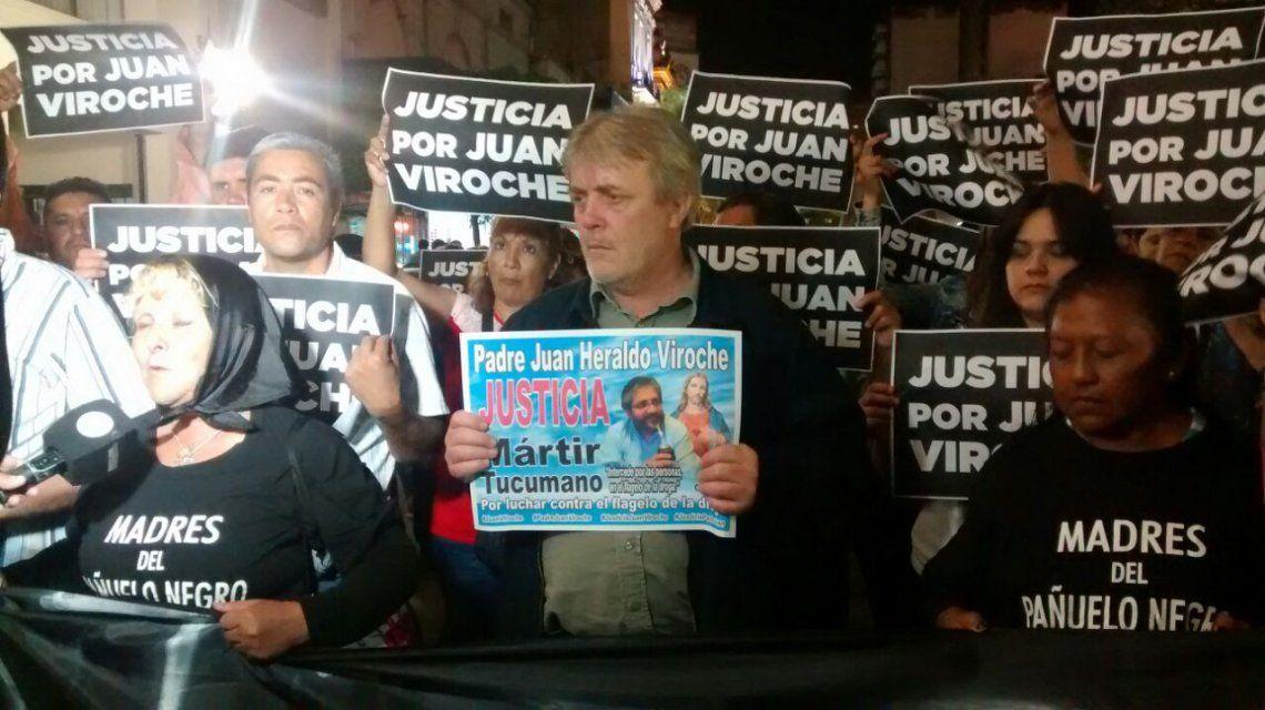 Vera en la marcha para pedir justicia