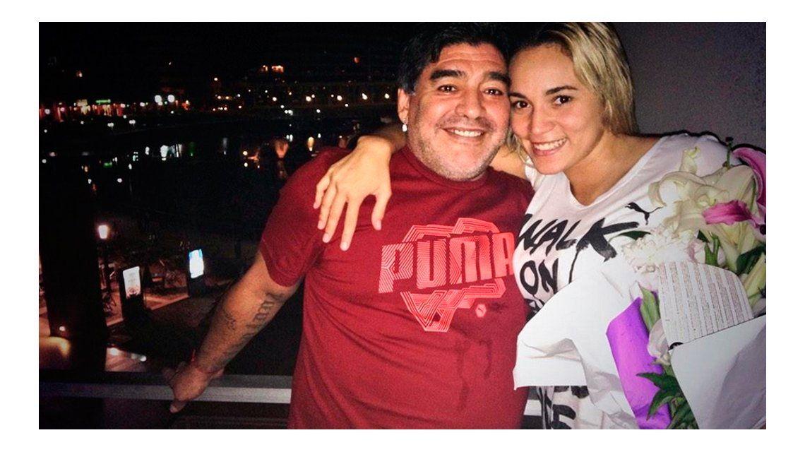 Rocío Oliva y Diego Maradona