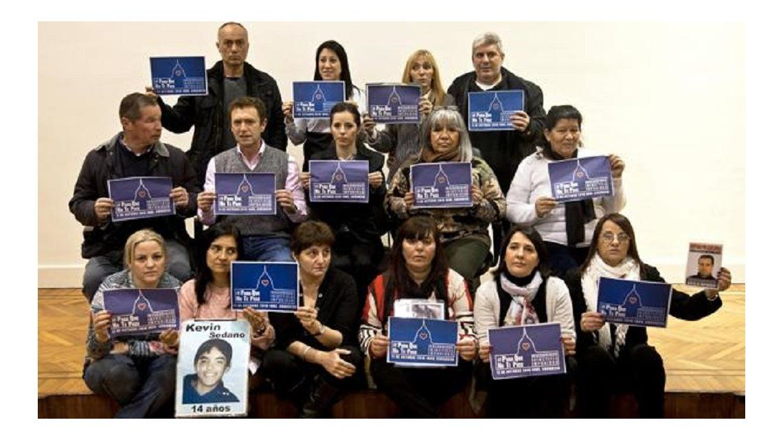 Victimas de  la inseguridad convocaron a una marcha el 11 de octubre frente al Congreso.