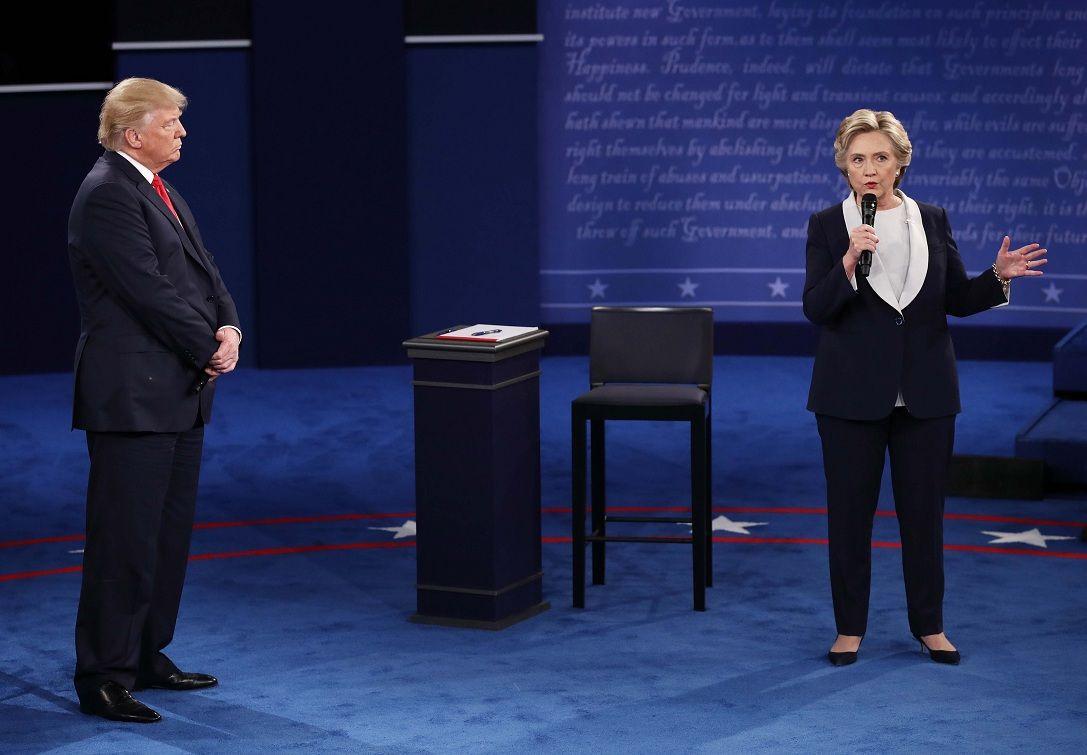 Segundo debate entre Hillary Clinton y Trump