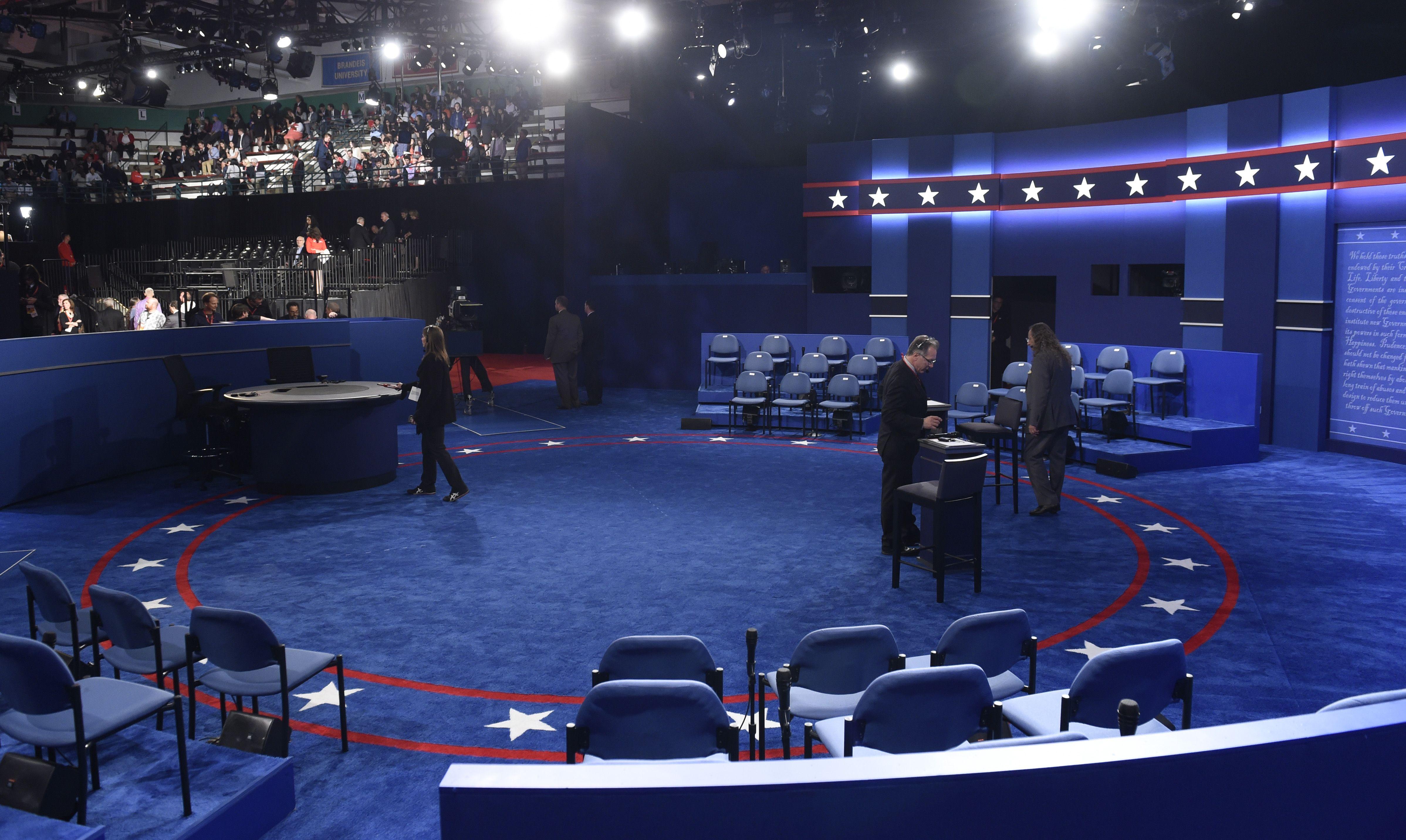 Todo listo para el segundo debate presidencial de los EEUU.