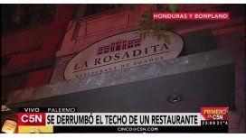 Derrumbe en el conocido restaurante La Rosadita de Honduras y Bonpland