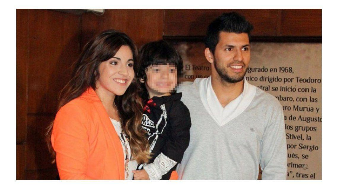 El pedido de Gianinna Maradona a su hijo con el Kun Aguero.